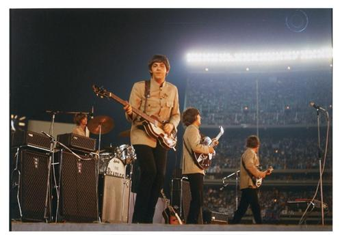 beatles at shea paul