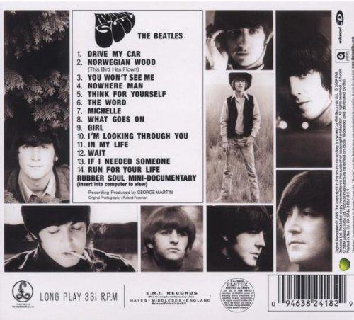 rubber soul UK back